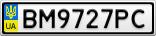 Номерной знак - BM9727PC
