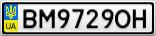 Номерной знак - BM9729OH
