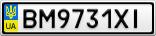 Номерной знак - BM9731XI