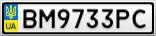 Номерной знак - BM9733PC