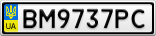 Номерной знак - BM9737PC