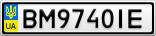 Номерной знак - BM9740IE
