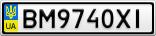 Номерной знак - BM9740XI