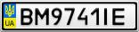 Номерной знак - BM9741IE