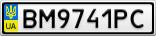 Номерной знак - BM9741PC