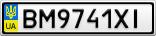 Номерной знак - BM9741XI