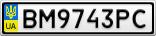 Номерной знак - BM9743PC