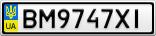 Номерной знак - BM9747XI