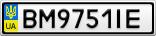 Номерной знак - BM9751IE