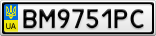 Номерной знак - BM9751PC