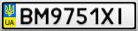 Номерной знак - BM9751XI