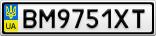 Номерной знак - BM9751XT