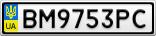 Номерной знак - BM9753PC