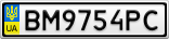 Номерной знак - BM9754PC