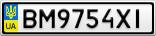 Номерной знак - BM9754XI