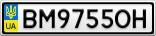 Номерной знак - BM9755OH