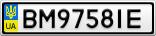 Номерной знак - BM9758IE
