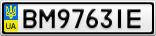 Номерной знак - BM9763IE