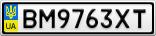 Номерной знак - BM9763XT
