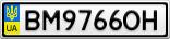Номерной знак - BM9766OH