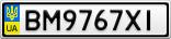 Номерной знак - BM9767XI
