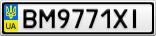 Номерной знак - BM9771XI