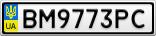 Номерной знак - BM9773PC