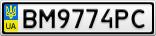 Номерной знак - BM9774PC