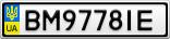 Номерной знак - BM9778IE