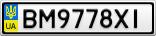 Номерной знак - BM9778XI