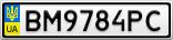 Номерной знак - BM9784PC