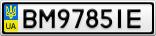 Номерной знак - BM9785IE