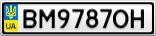 Номерной знак - BM9787OH