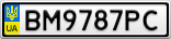 Номерной знак - BM9787PC