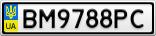Номерной знак - BM9788PC