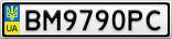 Номерной знак - BM9790PC