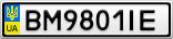 Номерной знак - BM9801IE