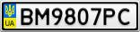 Номерной знак - BM9807PC