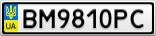 Номерной знак - BM9810PC