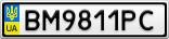 Номерной знак - BM9811PC