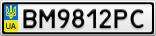 Номерной знак - BM9812PC