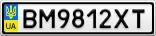 Номерной знак - BM9812XT