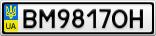 Номерной знак - BM9817OH