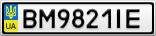 Номерной знак - BM9821IE