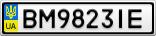Номерной знак - BM9823IE