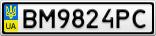 Номерной знак - BM9824PC