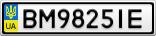 Номерной знак - BM9825IE