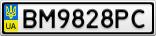 Номерной знак - BM9828PC