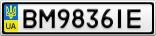 Номерной знак - BM9836IE