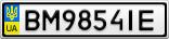 Номерной знак - BM9854IE